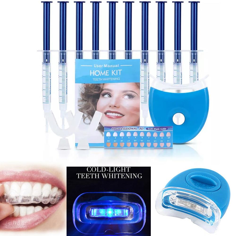Teeth Whitening Kit Bleaching System Bright White Smile Teeth Whitening Gel Kit With LED Light Dental Equipment Bright Whitening