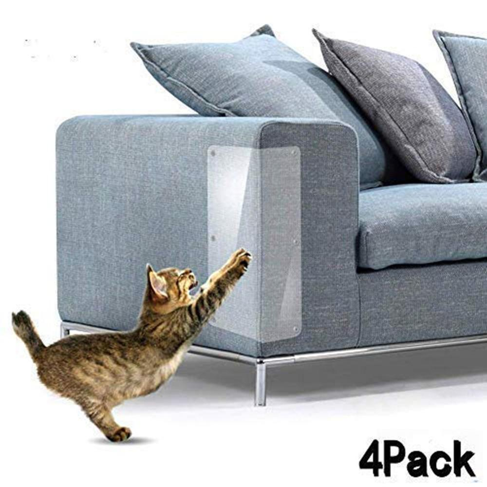 4Pcs Household Multifunctional Furniture Protection Stickers Cat Sofa Anti-Grab Stickers Furniture Protection Stickers