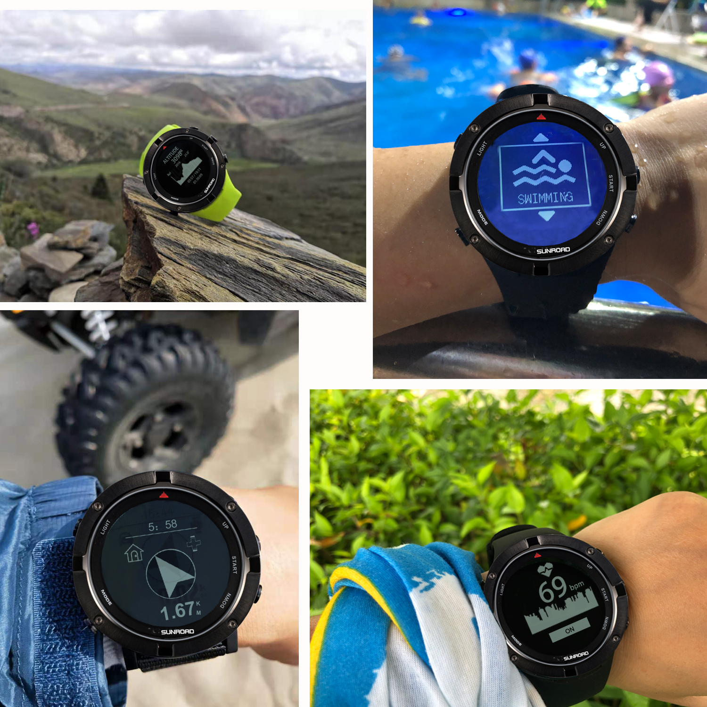 SUNROAD smart GPS herz rate höhenmesser outdoor sport digitale uhr für männer laufschuhe marathon triathlon kompass schwimmen uhr - 4