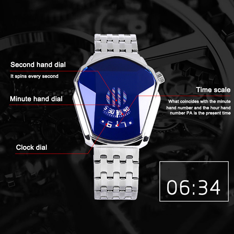 New Hot Diamond Style Quartz Watch Waterproof Fashion Steel Band Quartz Watch for Men Women USJ99