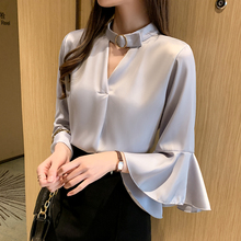 Korean Fashion Chiffon Women Blouses Woman Ruffle