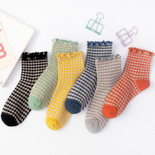 striped frilly socks woman kawaii calcetines women meias skarpetki damskie meia femme chaussettes cute chaussette sock cotton