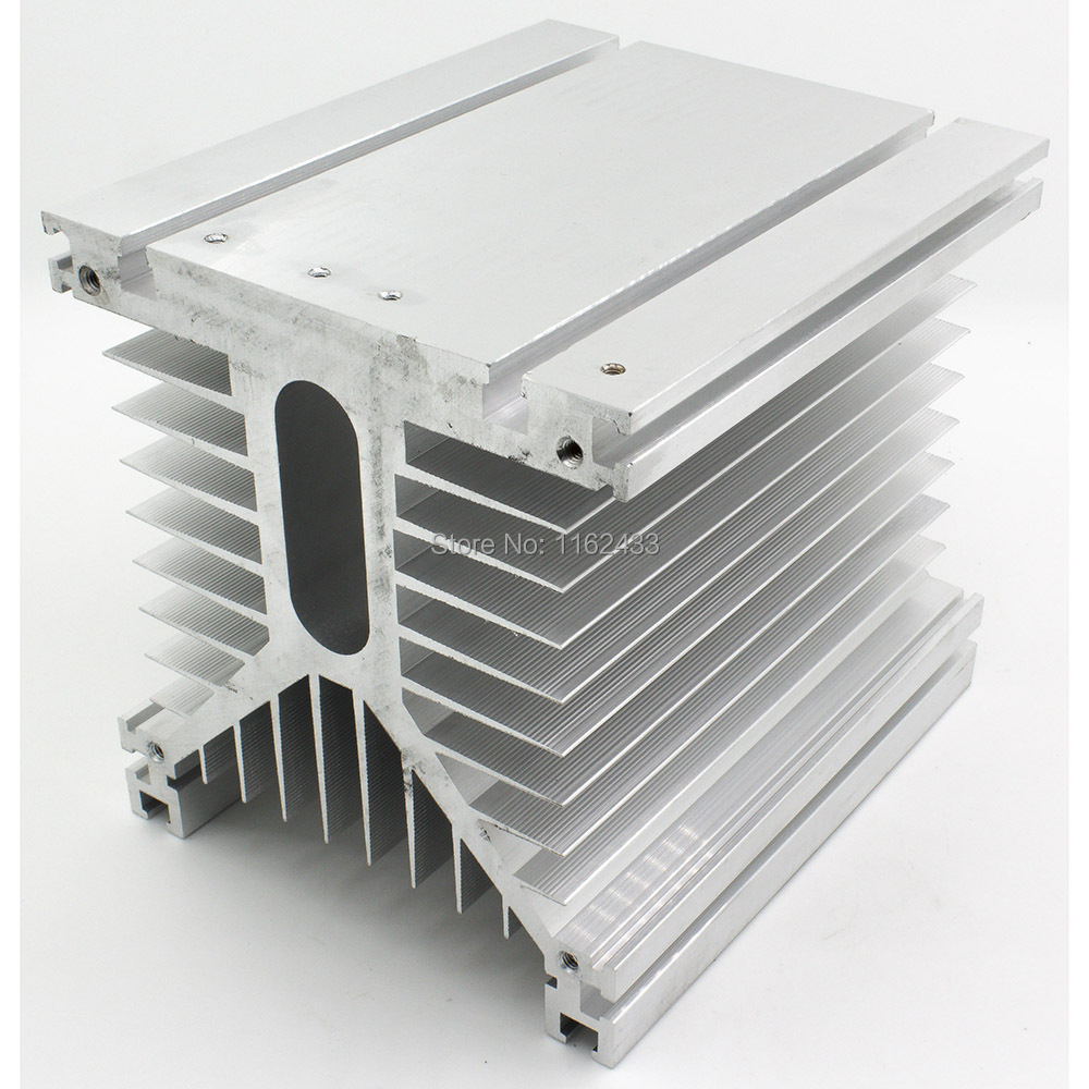 FHSY01F-400 125*135*400 mm three phase solid state relay SSR heat sink radiator with 220VAC fan and protective cover