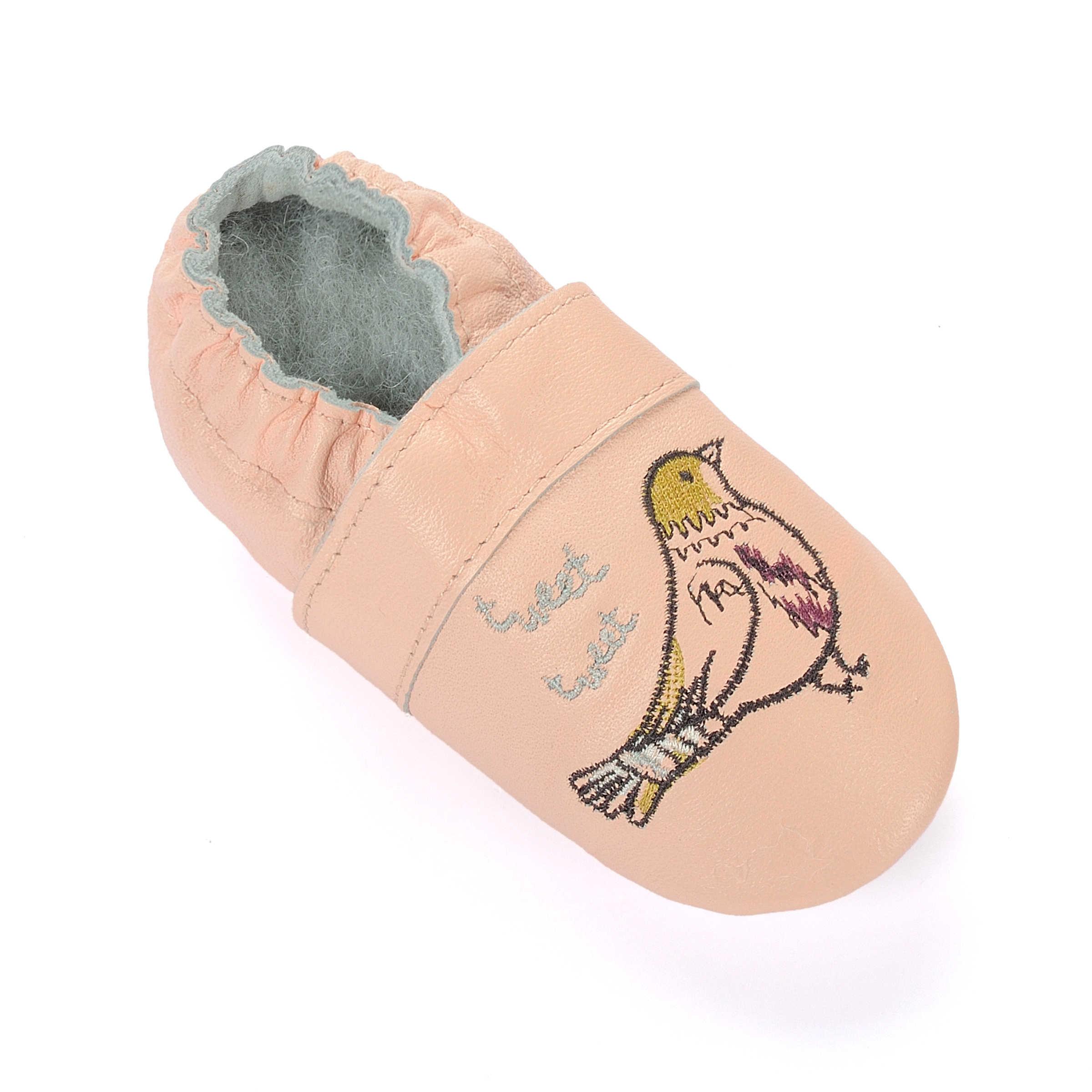 Baby Meisje Jongens Kruipen Slippers Baby Schoenen Zacht Leer Suède Zool Eerste Wandelschoenen Mocassins Skid-Proof Dinosaurussen