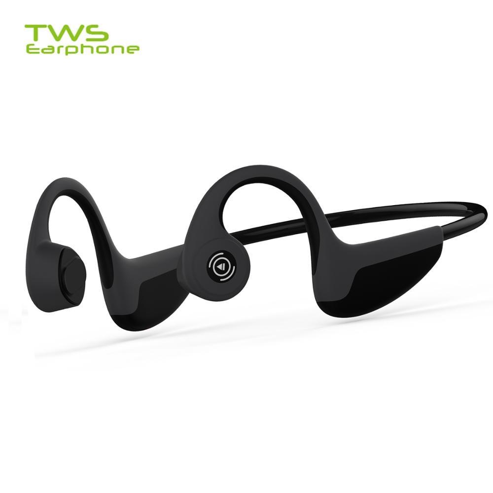 TWSearphone Z8 Bluetooth 5,0 наушники с костной проводимостью Беспроводные спортивные гарнитуры с микрофоном для всех смартфонов
