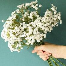 90 cabeças de flores artificiais falsa respiração do bebê gypsophila decoração do casamento aniversário foto diy adereços flor cabeças ramo