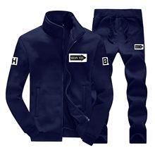 Conjunto de chándal para Hombre, chaqueta + Pantalones, Jersey, conjunto de dos piezas, informal, de talla grande
