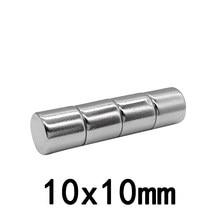 5/10/20/50/100 pces 10x10mm ímãs de terras raras diâmetro 10x10mm ímã de disco redondo 10mm x 10mm ímã de neodímio permanente 10*10mm