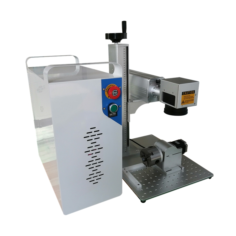 rotary included Hot sale 20w 30w raycus fiber laser marking machine price  engraving micro cutting