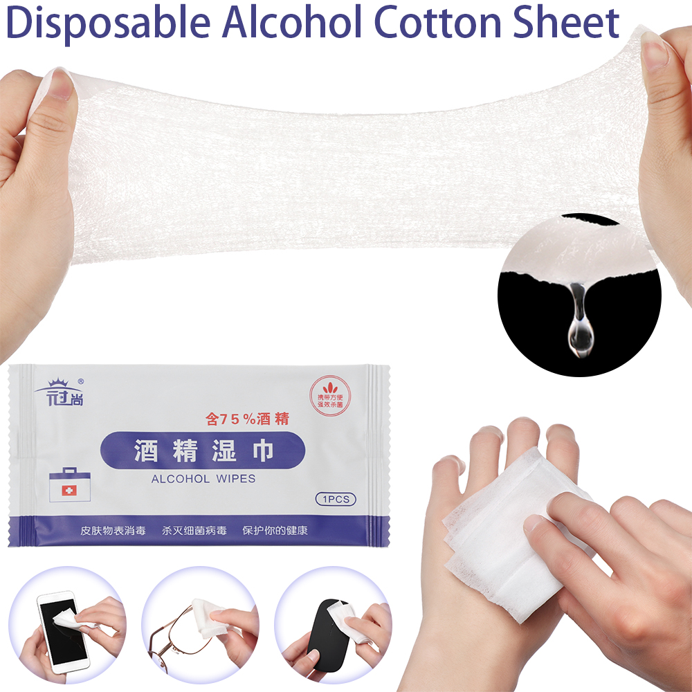 25Pcs/box IN STOCK Disposable Alcohol Cotton Sheet Nail Cleaning Disinfection Bag Wipes Sterilize Disinfection Wipes Dropship