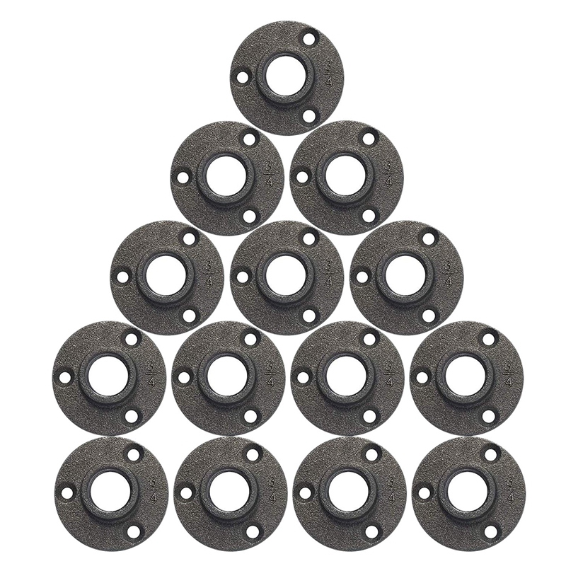 5 bridas de hierro fundido para tuber/ías de 3//4 pulgadas