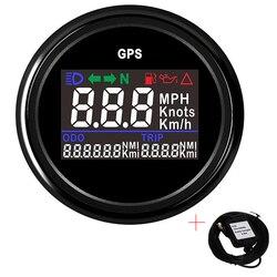 Boat Car GPS Speedometer Odometer with knots km/h mph adjustable Digital Gauge Fuel+Oil Pressure Alarm with GPS Sensor