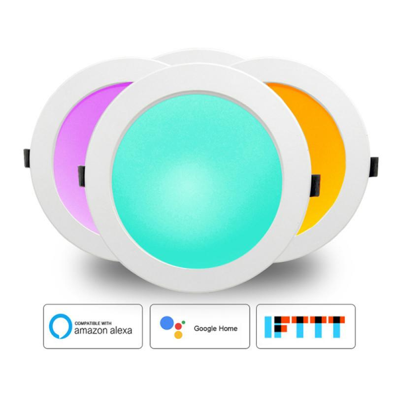 Smart Home LED Downlight Automation WiFi Switch Light Bulb Work With Alexa Google Home Assistant Smart Life Tuya APP