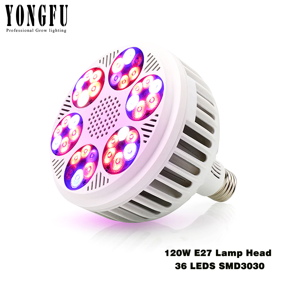 E27 Growing Lamp 120W Full Spectrum Led Grow Light Phyto LED Fitolamp 36 LEDs SMD3030 Chips Plant Light Indoor Hydroponics Plant