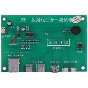 Image 1 - MOOL 3 ב 1 USB כבל שלישייה Tester טעינת כבל מבחן כרטיס Tpye C מיני USB MiniUSB PCB לוח נתונים חוט מבחן מתקן