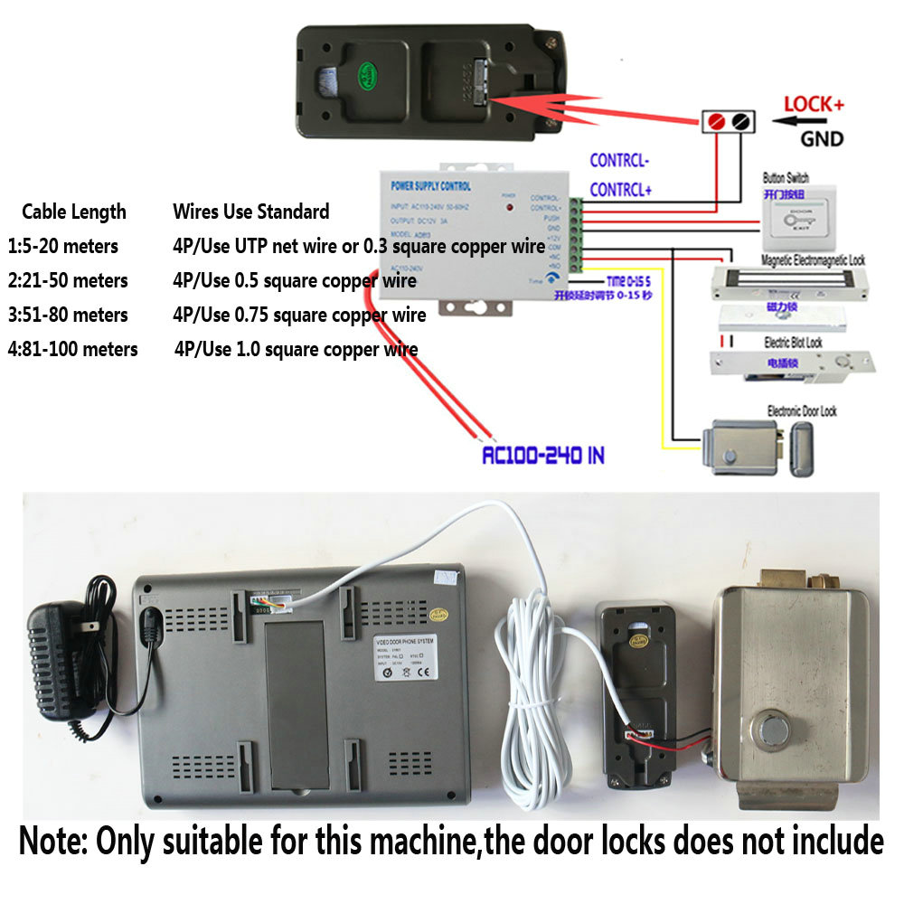 Купить с кэшбэком MAOTEWANG 7 Inch Color Video Door Phone Doorbell Intercom System  Video Door Entry Panel Intercoms for Private Home Call Panel
