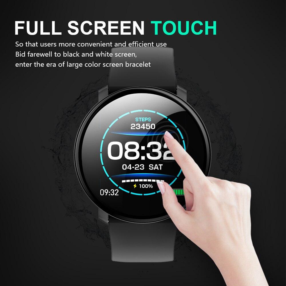 696 M31 plein écran tactile montre intelligente IP67 étanche plusieurs Sports Mode bricolage montre intelligente visage pour IOS et Android Fitness Tracker