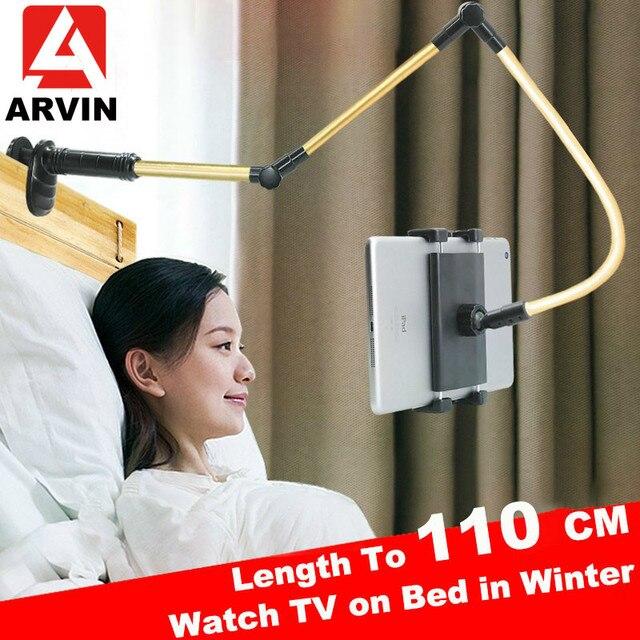 Arvin Support réglable pour tablette de 4 à 14 pouces, Support de Table/lit pour iPad, iPhone, Kindle