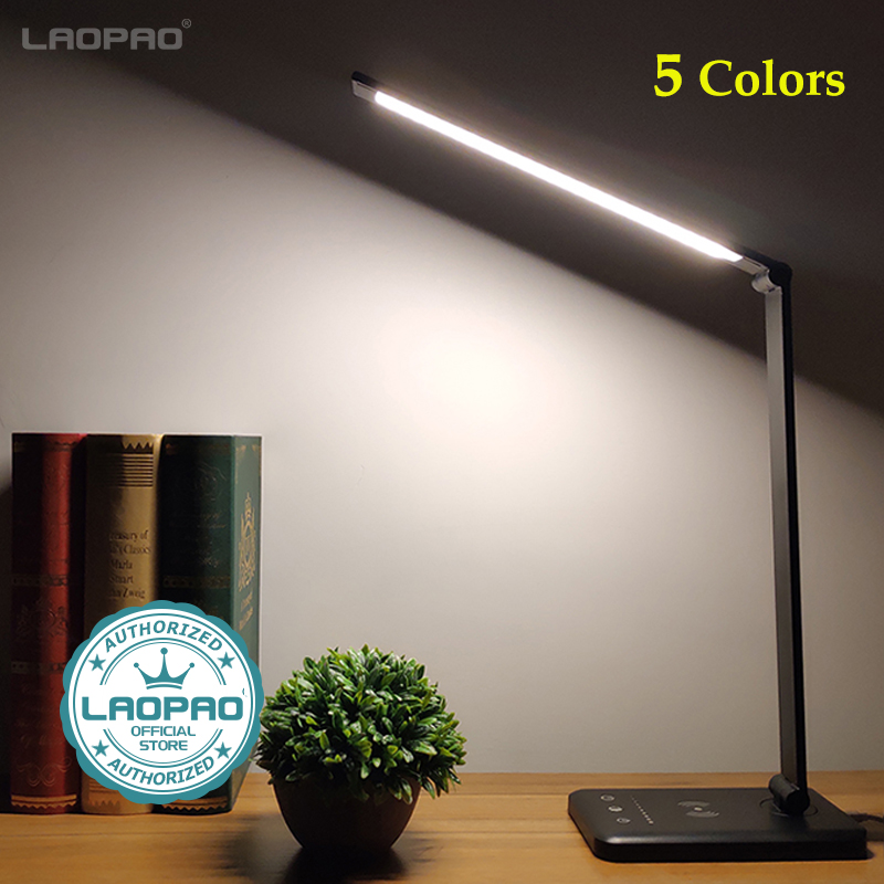 LAOPAO 52PCS LED Desk Lamp 5 Color Stepless Dimmable Touch USB Chargeable Reading Eye-protect with timer Table lamp Night Light 1