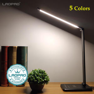 LAOPAO Desk-Lamp Timer Night-Light Chargeable Reading Dimmable Touch Eye-Protect Stepless