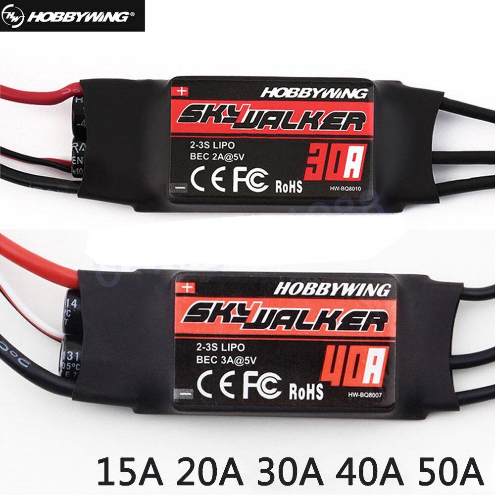 Новый бесщеточный контроллер скорости Hobbywing SkyWalker 20A 40A 50A 60A 80A RC ESC с UBEC