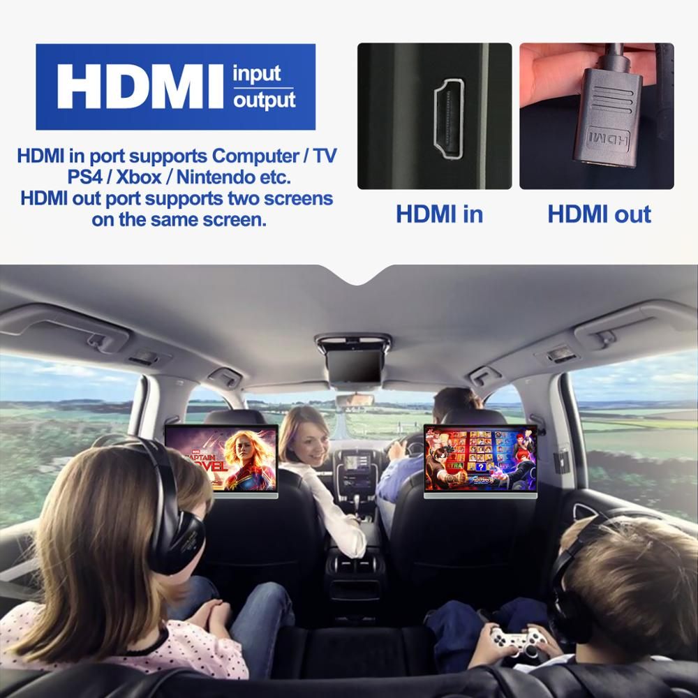 lowest price Car TV Headrest Monitor Touch Screen 13 3 Inch Android 9 0 4K 1080P WIFI Bluetooth USB SD HDMI FM Mirror link movie Video player