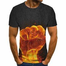 2020 3d печати Повседневная футболка лето для мужчин с круглым