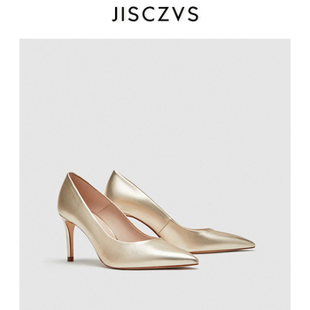 Kobiety buty wysokie obcasy klasyczne modne damskie czółenka damskie buty biurowe Pointed Toe cienkie obcasy buty damskie eleganckie obuwie robocze damskie tanie i dobre opinie JISCZVS Podstawowe Syntetyczny Super Wysokiej (8cm-up) Pasuje prawda na wymiar weź swój normalny rozmiar Classics Płytkie