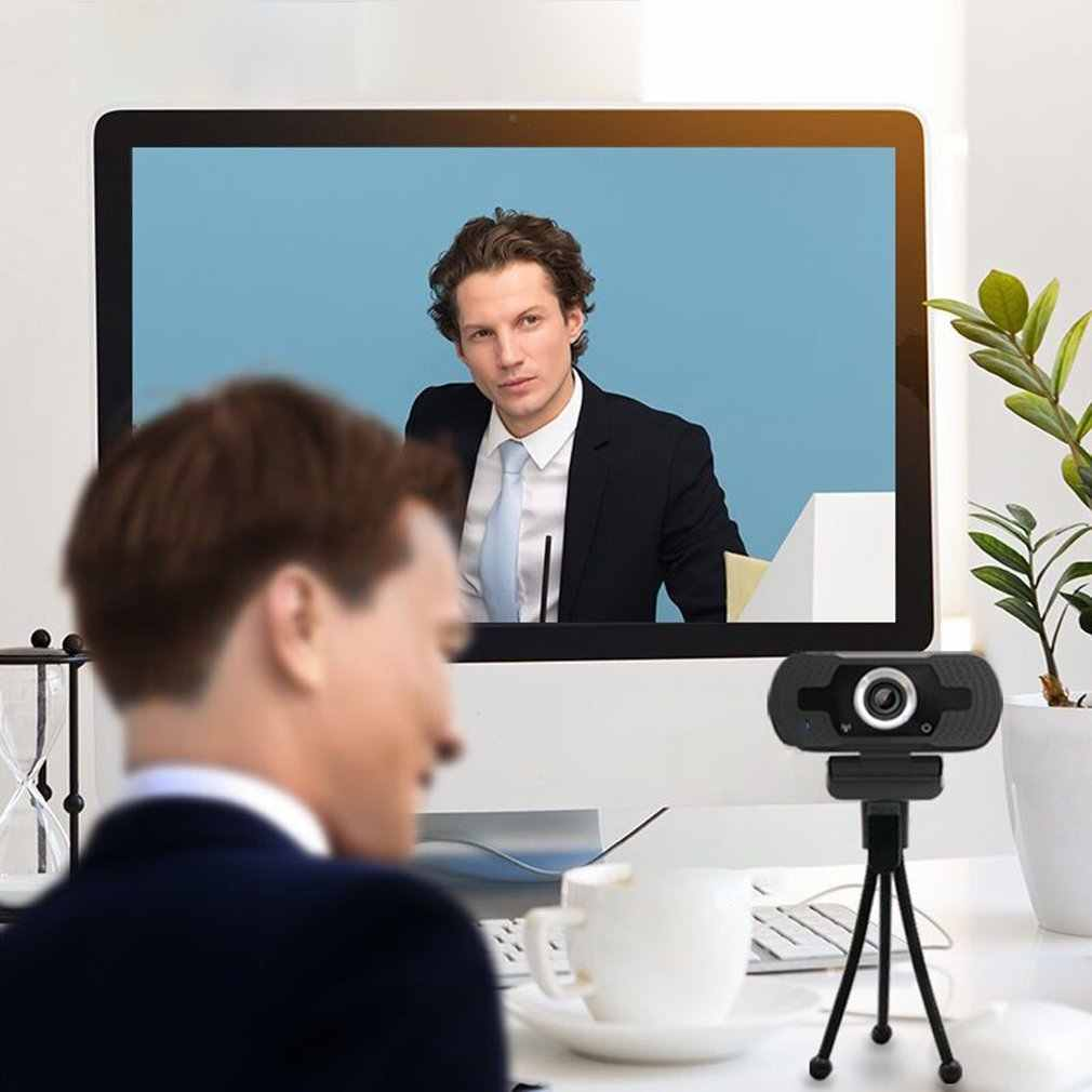 USB HD 1080P Webcam bilgisayar Laptop için otomatik odaklama 2MP High-end Video çağrı Webcam kamera gürültü azaltma mikrofon
