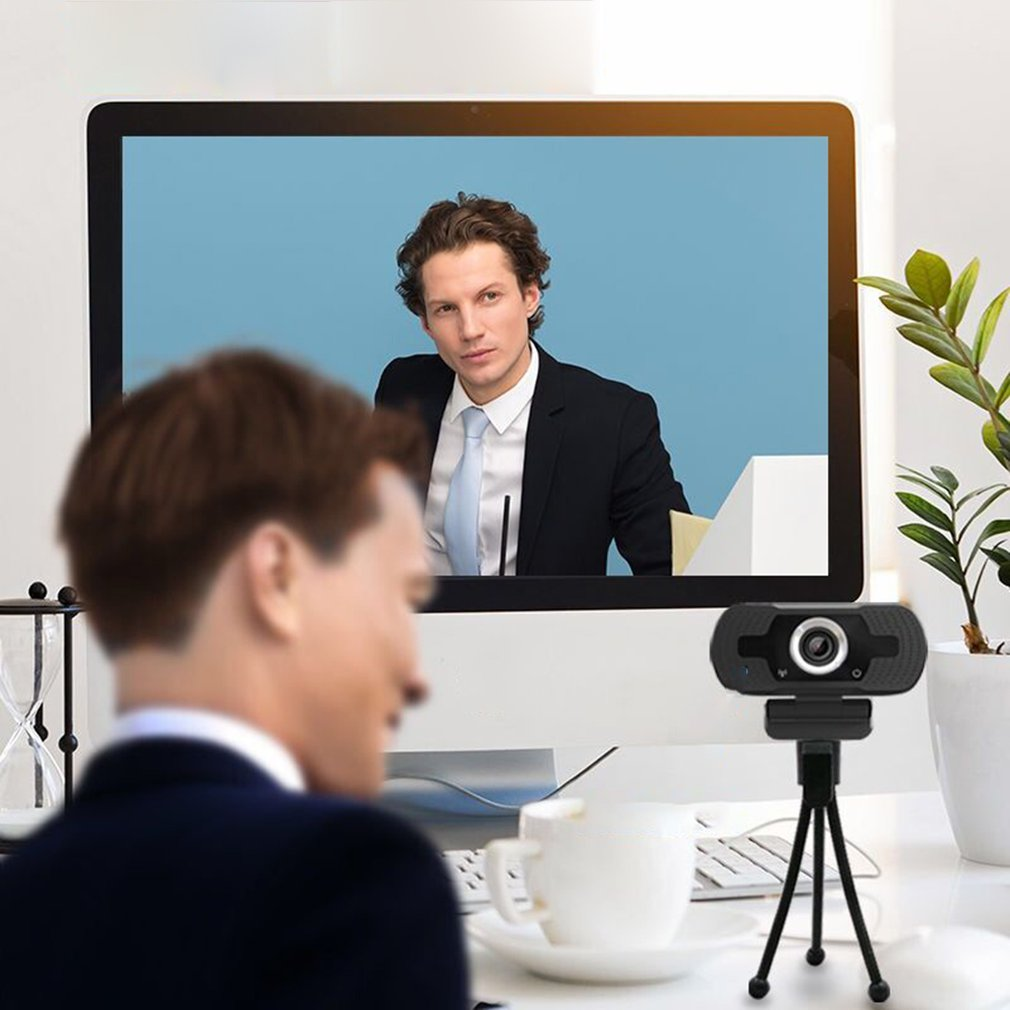 2MP High-end Video Calling 1080P USB Webcam for Computer/Laptop With Noise Reduction Microphone 2