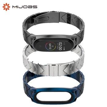 Mijobs Mi Band 5 Wrist Strap Metal Stainless Steel for Xiaomi Mi Band 5 4 3 Smart Watch Wristband Miband 5 Bracelets Accessories