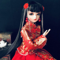 BJD 60CM Classical Beauty Doll With Ancient Palace Dress Clothing BJD Doll With Make Up Handmade Girl Toys Gift
