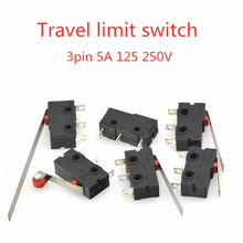 цена на 5PCS Travel limit switch, 3 Pin N/O N/C High quality All New 5A 250VAC Micro Switch  Snap Action Push Microswitches
