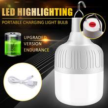 1PC Rechargeable LED Bulb Lamp USB Charge Portable Emergency Camping Tent BBQ Light Night Market Light Outdoor Camping Home Lamp(China)