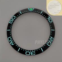 HEIßER 38mm Super Leucht Hohe Qualität Blau/Schwarz Keramik Lünette Einsatz Ring Uhr Lünette Fit SKX007/009 MEER Master Uhr Teile