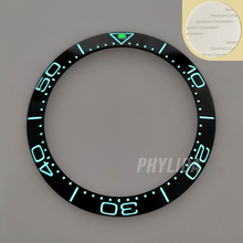 ¡Oferta! Anillo de cerámica superluminoso de 38mm de alta calidad azul/negro con bisel para reloj SKX007/009, piezas de reloj SEA Master