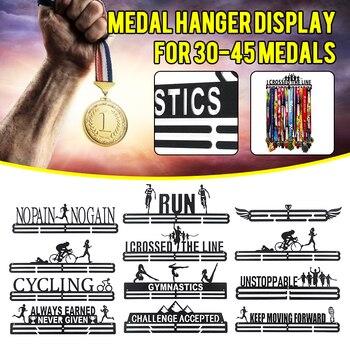 Soporte para medalla de alta calidad soporte para medalla expositor de acero inoxidable soporte para correr natación gimnasia danza deporte medallas