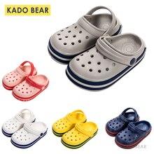 Детские мягкие тапочки EVA для маленьких девочек; домашняя обувь на плоской подошве для маленьких мальчиков; пляжные шлепанцы для детей; забавные уличные сандалии для сада