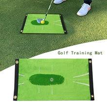 Esteira de treinamento de golfe detecção balanço batendo na porta do jogo de golfe prática auxílio de treinamento almofada escritório em casa ao ar livre tapete d3