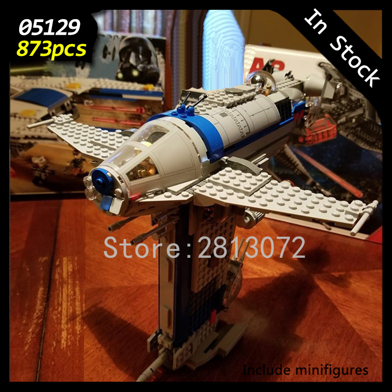 In Stock 05129 Star Wars Seriers The Resistance Bomber 873Pcs Star Wars Seriers Model Building Blocks Compatible with <font><b>75188</b></font> Toys image
