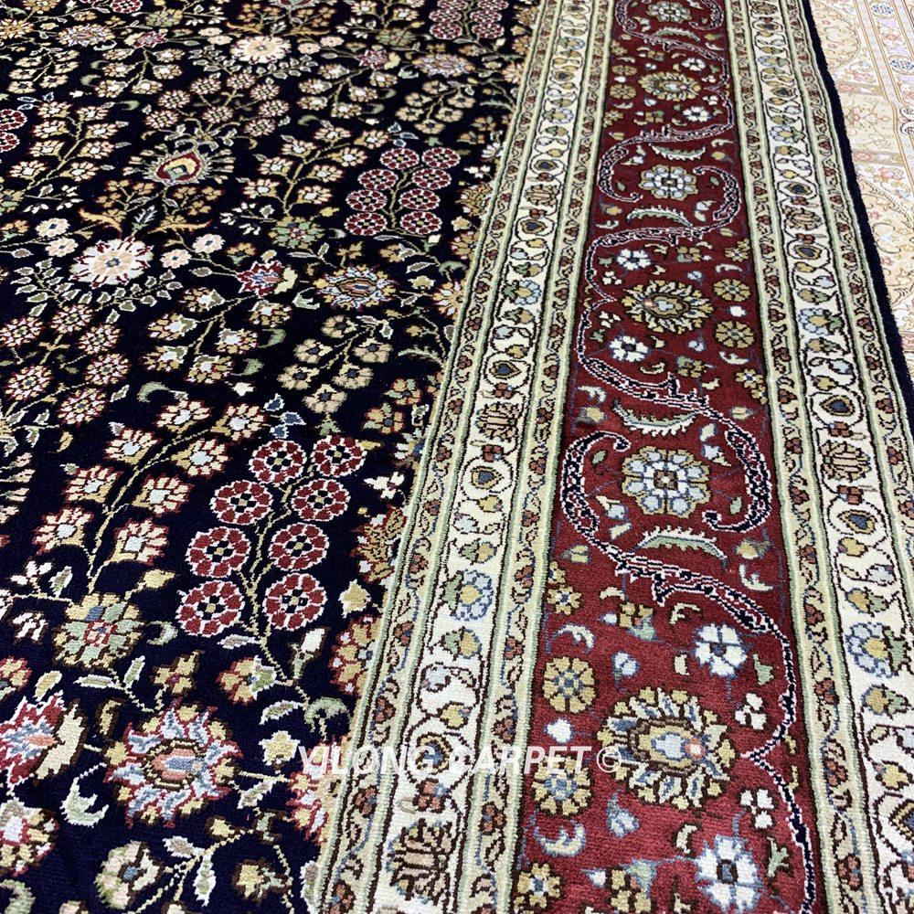 Yilong 5.5'x8 antik buatan tangan karpet, Tangan diikat diskon karpet - Tekstil rumah - Foto 5