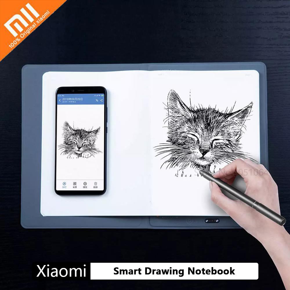 Xiaomi Youpin Smart Drawing Notebook Paper Notepad Note Pad Lined Pocketbook With Pen for Diary Journal Office School Drawing