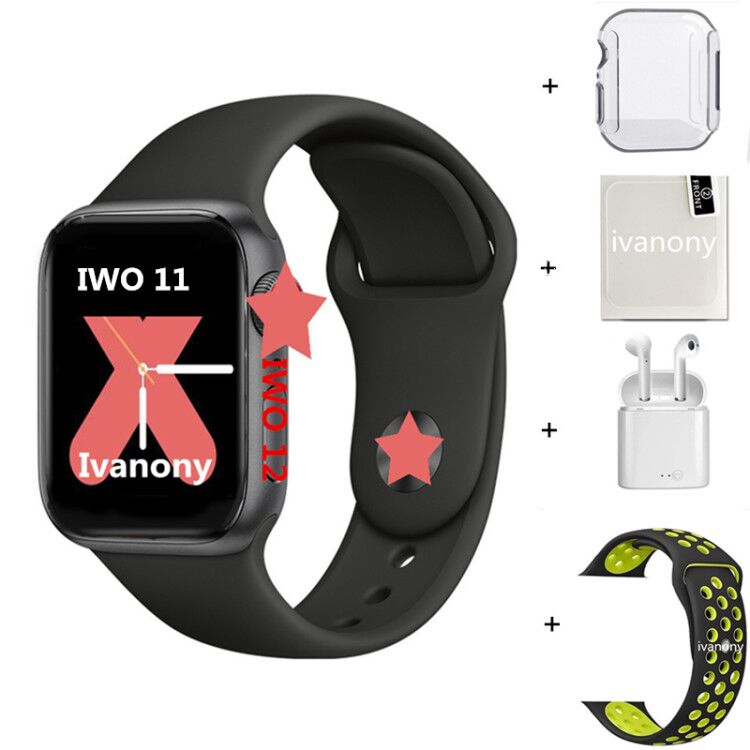 Smartwatch IWO 12 Series 5 IWO12 Pro Smart Watch 1:1 44MM  Watch 5 W55M W55 ECG Heart Rate Monitor Support Siri Control Clock