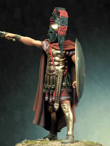 Image 2 - 1/18 90mm  ancient stand  warrior with shield   (WITH BASE ) Resin figure Model kits Miniature gk Unassembly Unpainted