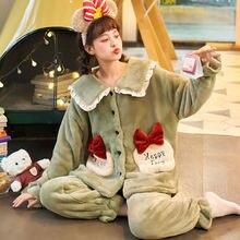 Пижамы с милыми животными Женская домашняя одежда пижамы героями