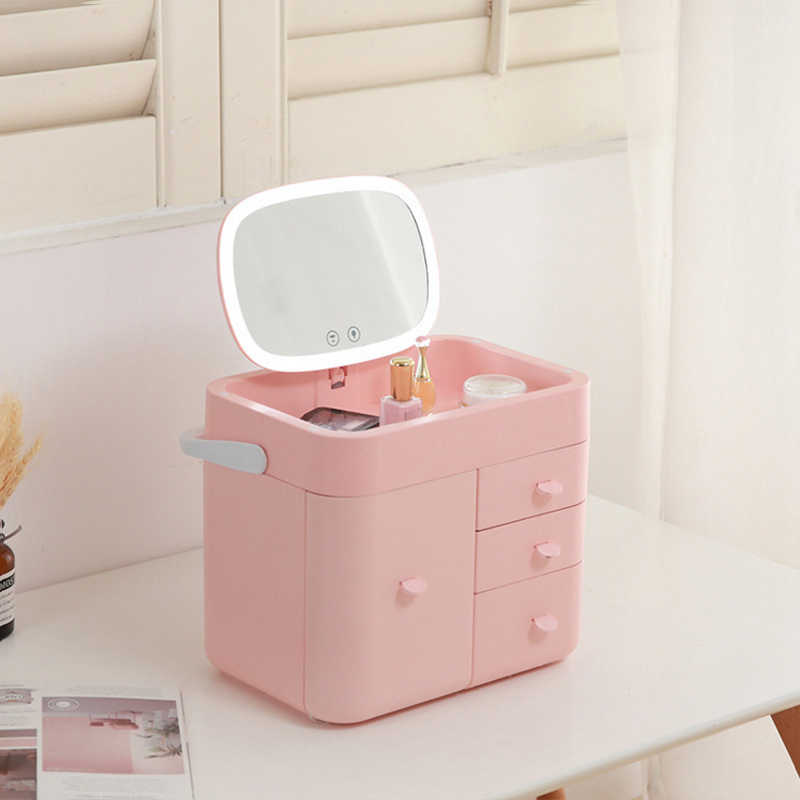 Cosmetic Storage Box Led Lamp With