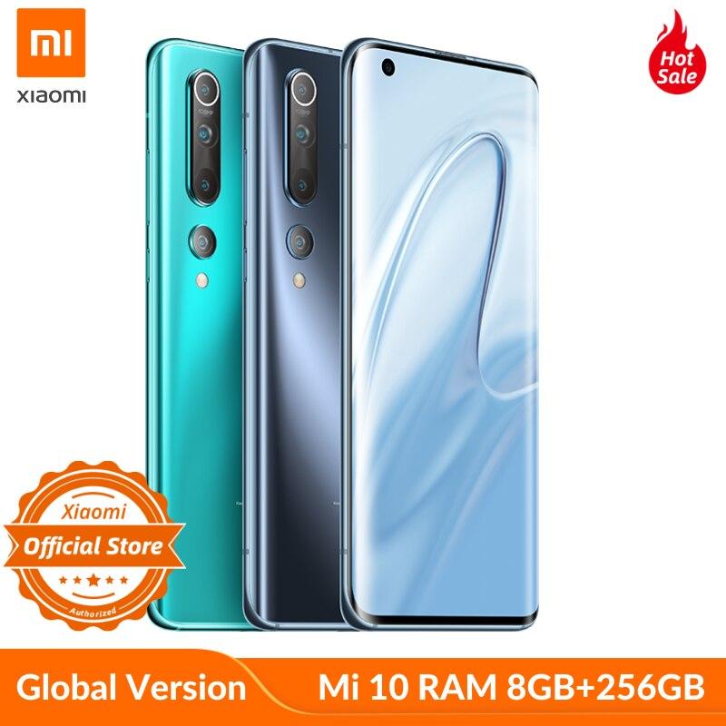 Глобальная версия xiaomi mi 10 Snapdragon 865 8 Гб 256 SA/НСА 5g для смартфонов с Wi Fi 6 LPDDR5 UFS 3,0 108MP ProCamera 8K видео Смартфоны и мобильные телефоны      АлиЭкспресс