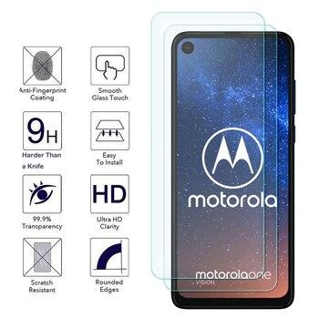 Перейти на Алиэкспресс и купить Закаленное стекло 9H HD для Motorola Moto G8 E6 G E6s Power Lite Play Plus, 2 шт., Защитная пленка для экрана Motorola One Action Vision
