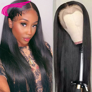 Image 5 - KRN 99J 13x6 Lace Frontal Human Hair Wigs With Baby Hair Straight Remy Brazilian Wigs Lace Frontal Wigs For Woman 180 density