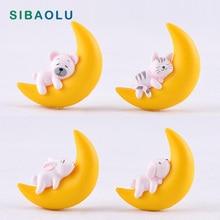 Miniature Fairy Garden-Decoration-Accessories Animal-Model Bear-Figurine Moon Rabbit